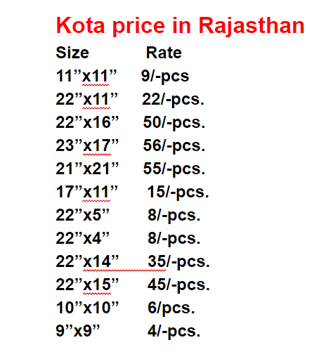 kota stone price list
